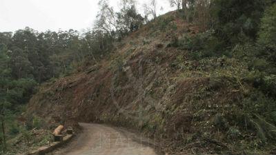Trabalhos de mitigação e prevenção riscos: Santo António da Serra