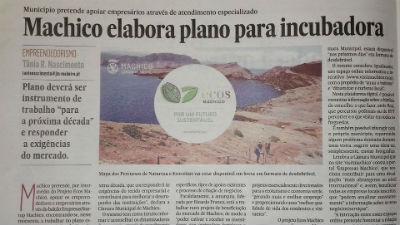 Plano para incubadora startup: Ecos Machico